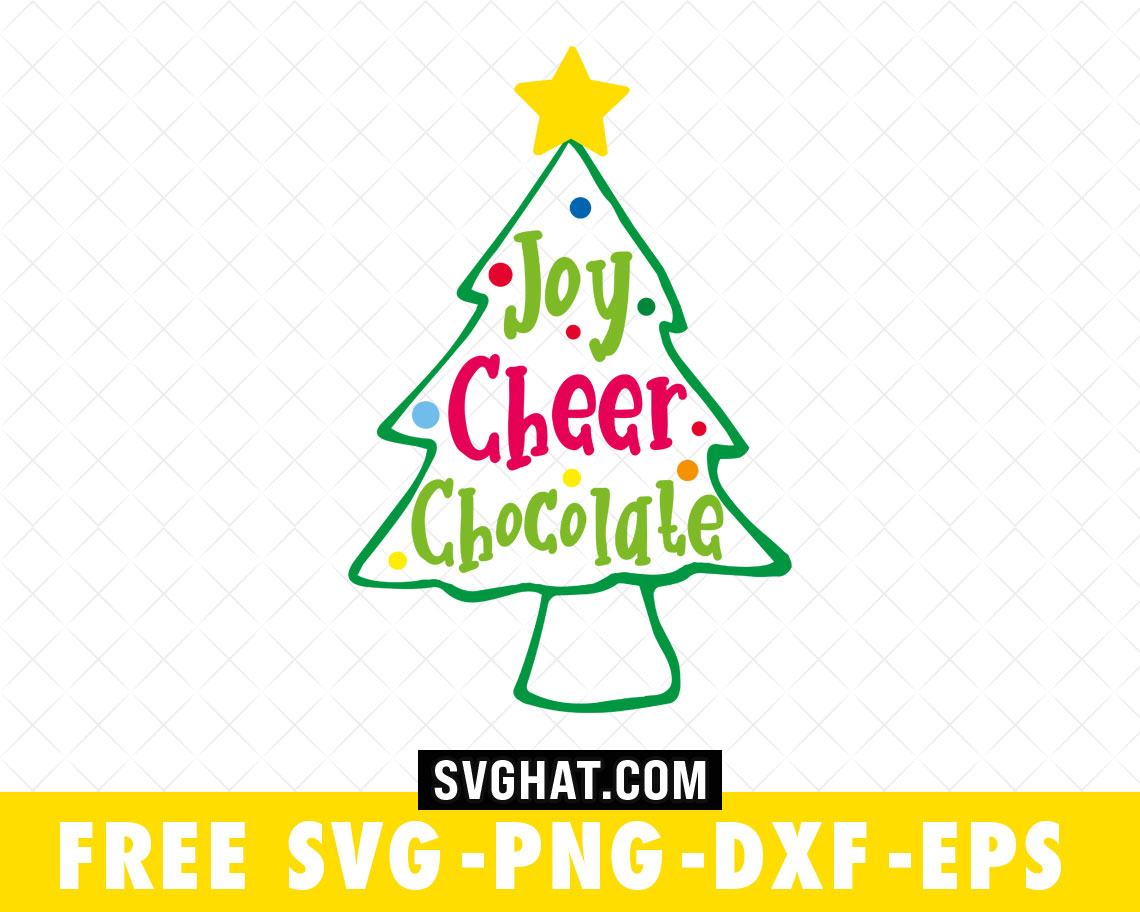 Download Joy Cheer Chocolate Christmas Tree SVG Files Free for ...